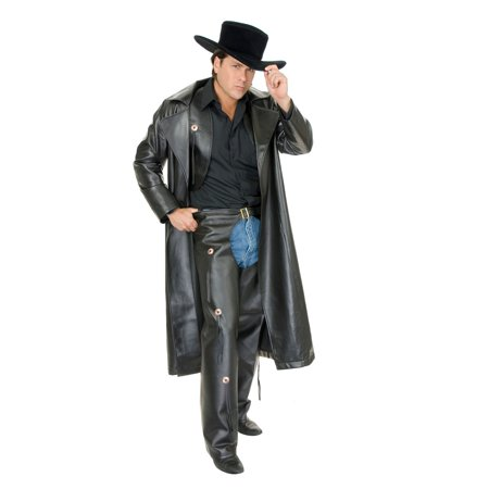 Halloween Range Rider Leather Adult Costume - Horseback Rider For Halloween