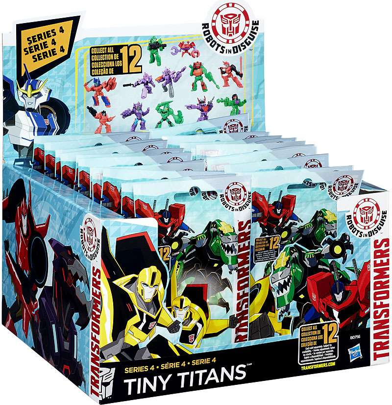 New /& Sealed Robots Lot of 5 Transformers Tiny Titans Series 4 Blind Bags