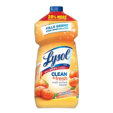 (2 Pack) Lysol Clean & Fresh Multi-Surface Cleaner, Tangerine & Mango,