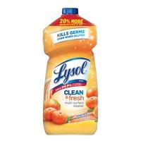 (2 Pack) Lysol Clean & Fresh Multi-Surface Cleaner, Tangerine & Mango, 48oz