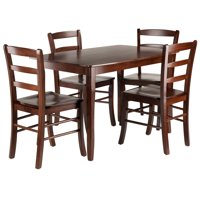 Winsome Wood Inglewood 5-PC Dining Set, Table & 4 Ladderback Chairs