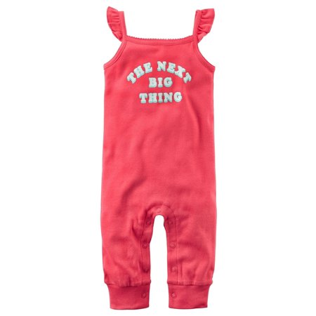 Carter's Baby Girls' The Next Big Thing Jumpsuit, 6 Months (Thing 1 And Thing 2 Jumpsuits)
