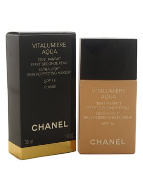 Vitalumiere Aqua Ultra-Light Skin Perfecting Makeup SPF 15 - # 70 Beige by Chanel for Women - 1 oz Makeup