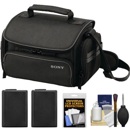 Cheap Offer Sony LCS-U20 Carrying Case (Black) with 2 NP-FW50 Batteries + Accessory Kit for NEX-3, NEX-C3, NEX-F3, NEX-5, NEX-5N & NEX-7 Digital Cameras Before Special Offer Ends