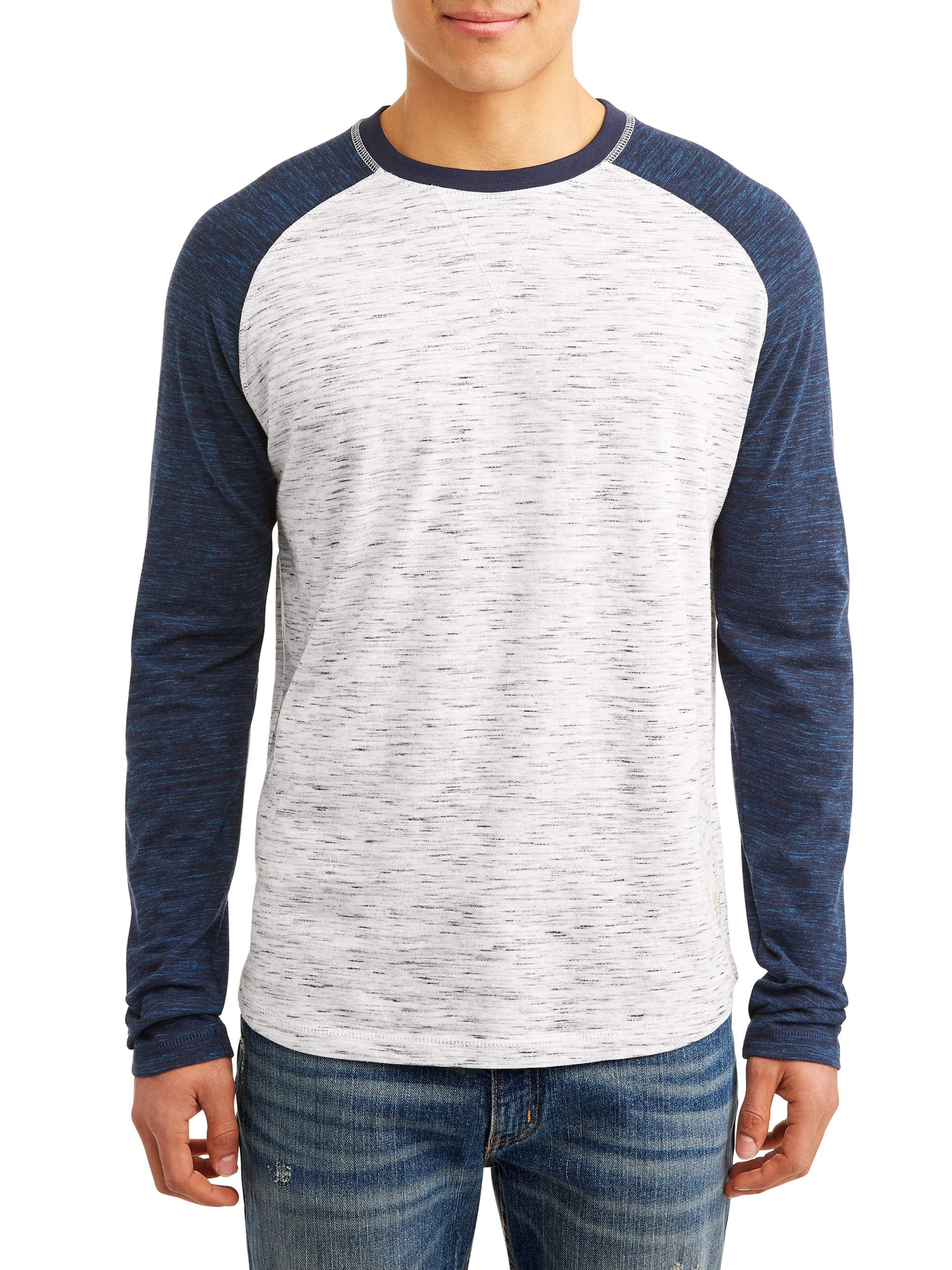 Lee Men's Long Sleeve Baseball Tee, Available Up to Size 2XL