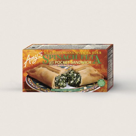 Amy's Spinach Feta Pocket Sandwich 4.5 oz, Pack of