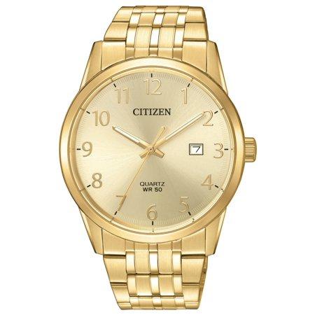 Citizen Men's BI5002-57Q Gold Tone Arabic Gold Dial Analog Quartz Watch Citizen Mens Analog