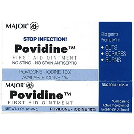 Major Povidone Iodine 10 % Generic for Betadine Ointment, 1 Oz. 10 Povidone Iodine Solution