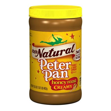 Peter Pan 100  Natural Honey Roast Creamy Peanut   Honey Spread  16 3 Oz