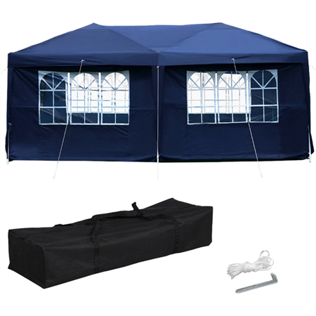 Yaheetech 10x20' Pop Up Canopy Shade EZ Up Party Tent Instant Folding Canopy Waterproof W/Carrying Bag