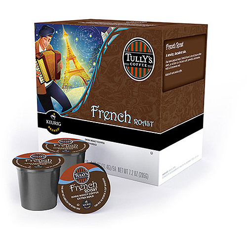 Keurig K-Cups, Tullys Extra Bold French Roast Coffee, 18ct