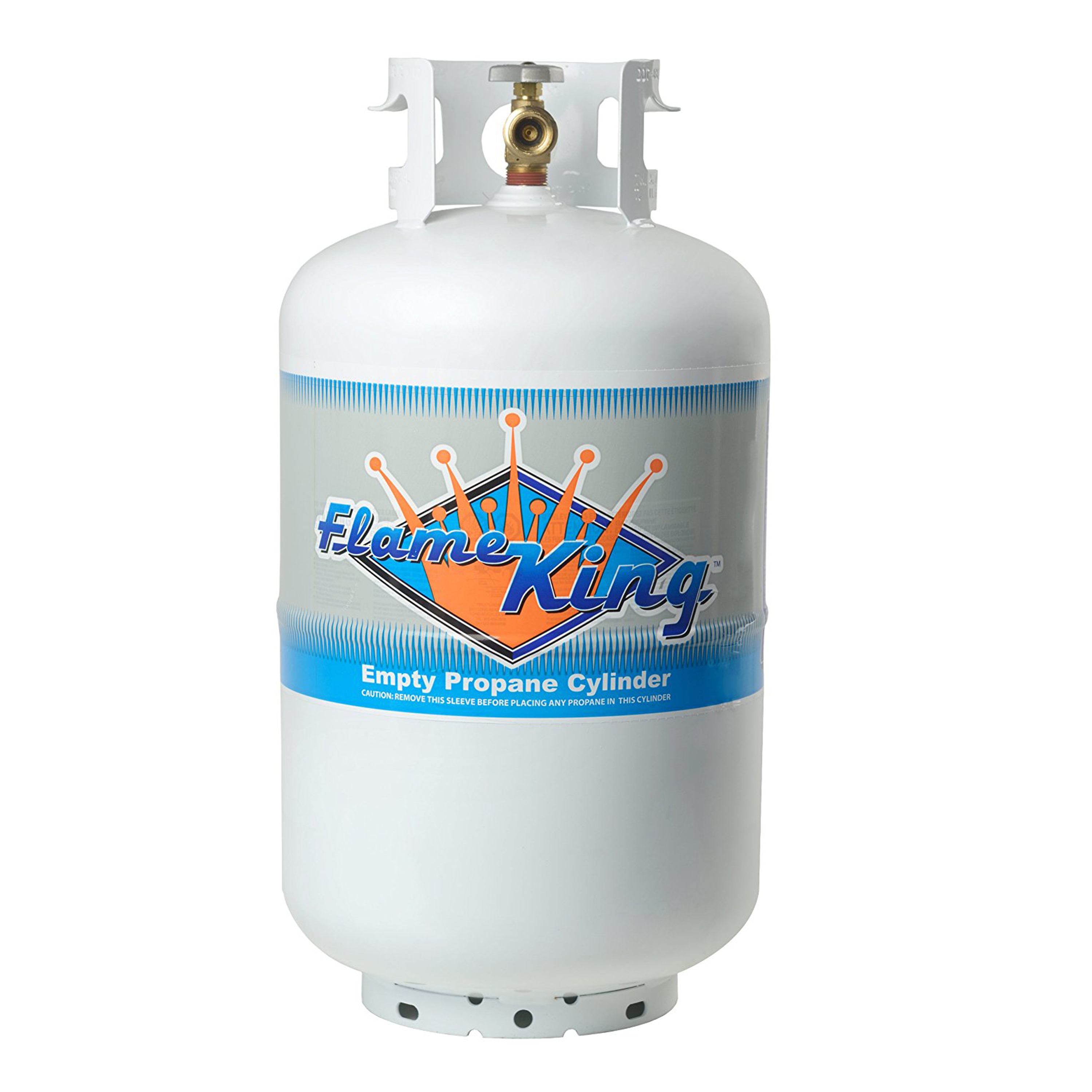 30 lb. Propane Cylinder with Type 1 Overfill Protection Device Valve (Ships Empty)
