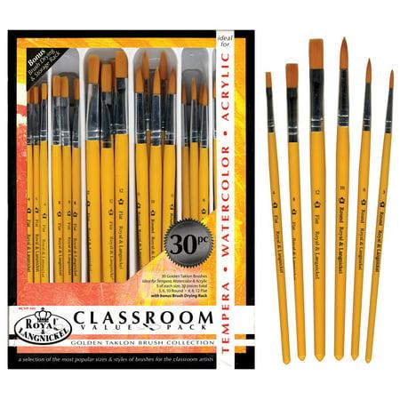 Royal Brush Golden Taklon Brush Classroom Value Pack, Pack of