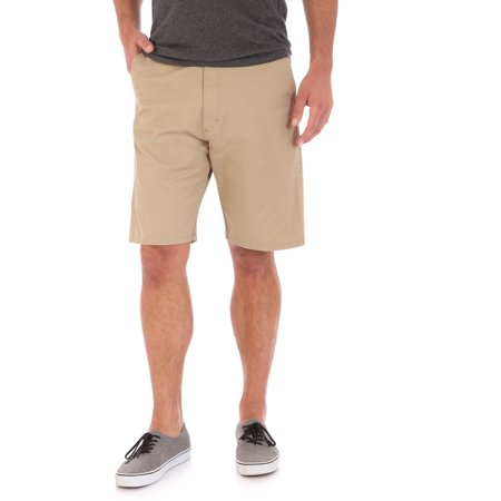 Men's Stretch Twill Flat Front (White Insert Soccer Shorts)