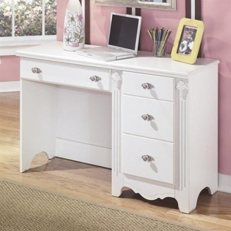 Signature design by ashley furniture exquisite 4 drawer for Bedroom with desk designs