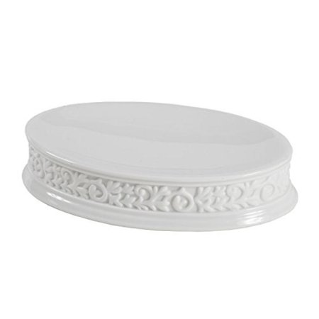 Euro Style Cosmopolitan Bath (Creative Bath CMO56WH Cosmopolitan Scroll Soap Dish - White and)