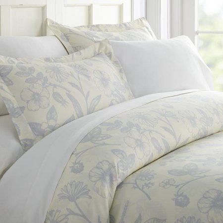 Noble Linens Premium Ultra Soft Garden Pattern 3 Piece Duvet Cover - Garden Duvet Cover Set
