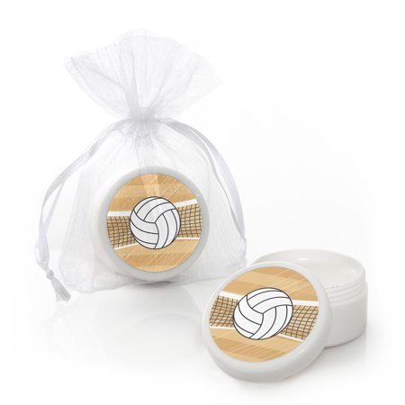Volleyball Party Supplies (Bump, Set, Spike - Volleyball - Lip Balm Baby Shower or Birthday Party Favors (Set of)