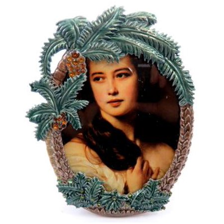Palm Tree Photo - Oval shaped picture frame with palm trees PF40
