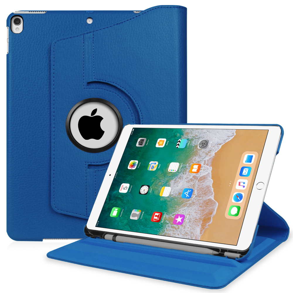 Fintie iPad Pro 10.5 Rotating Case [Built-in Apple Pencil Holder] 360 Degree Rotating Stand Cover, Royal Blue by Fintie