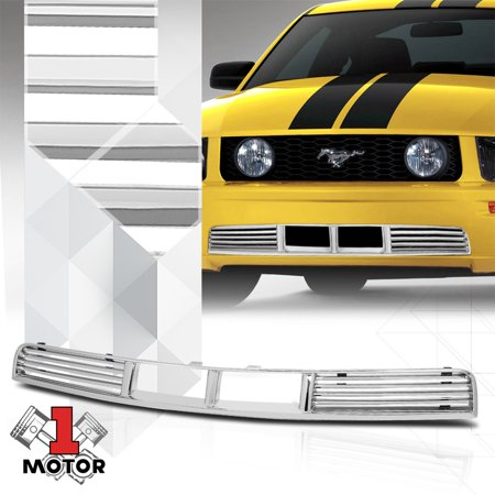- Chrome ABS Horizontal Bar Billet Lower Grille/Grill for 05-09 Ford Mustang Pony 06 07 08