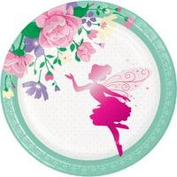 Floral Fairy Sparkle Dessert Plates