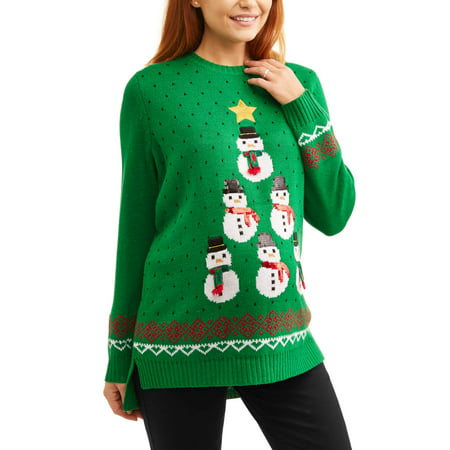 Women's Plus Christmas Sweater for $<!---->