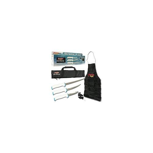 American Angler 6-Piece Saltwater Fillet Knife Kit Set by Ginsu