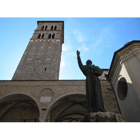 canvas print church st francis tower stretched canvas 10 x 14 ()