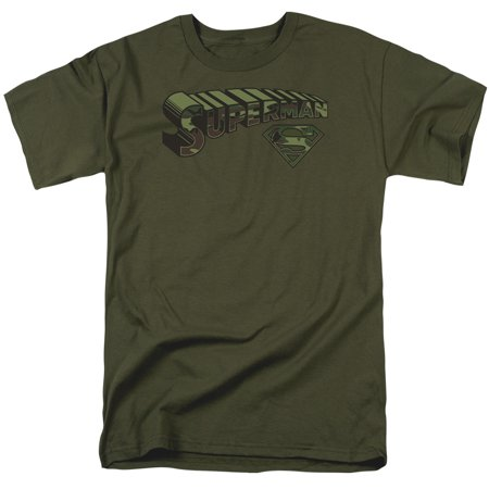 Superman Camo Logo & Shield Officially Licensed Adult T (Logo Cami)