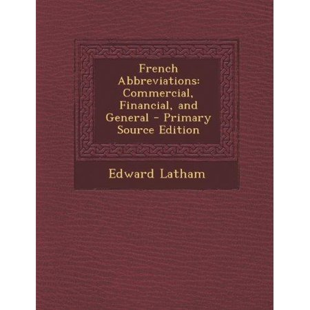 French Abbreviations  Commercial  Financial  And General