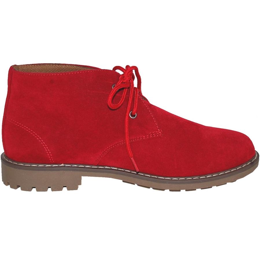 RED Suede Look CHUKKA BOOT - Walmart