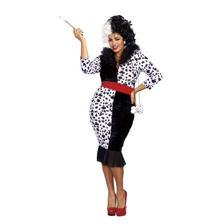 Dreamgirl Women's Plus-Size Dalmatian Diva Costume (80's Diva Plus Size Costume)