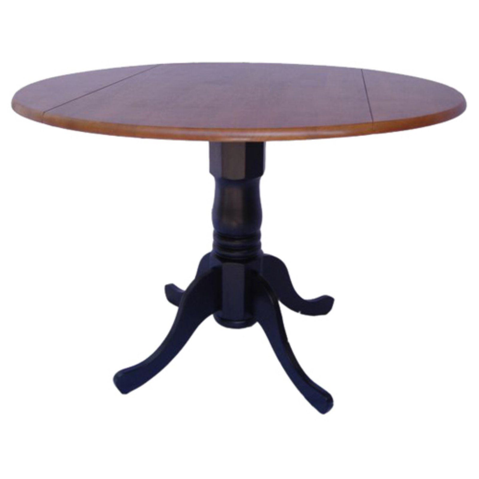 round kitchen table with drop leaves black cherry walmart com