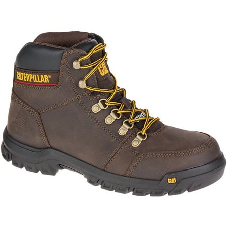 """CAT Footwear Outline Steel Toe - Seal Brown 8.5(M) Work Boot"""