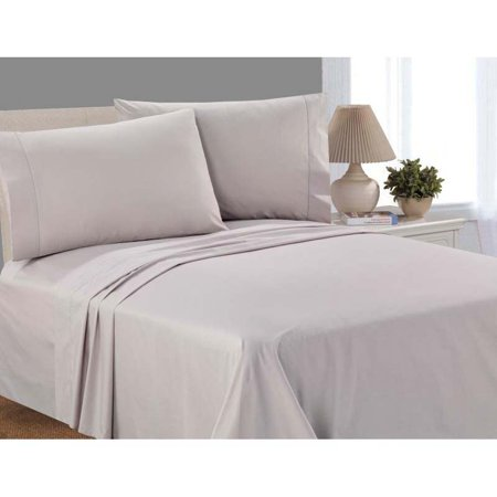 Mainstays 100% Cotton Percale, 200 Thread Count Sheet Set, Twin