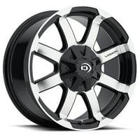 "Vision 413 Valor 17x8.5 5x4.5""/5x5"" +18mm Black/Machined Wheel Rim 17"" Inch"