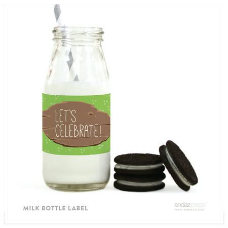 Friends Labels (Woodland Friends Birthday Milk Bottle Labels, 10-Pack )