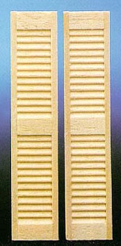 Dollhouse 1/2 Scale Louvered Shutters, 2/Pk