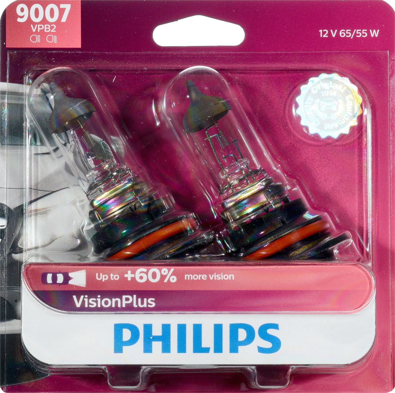 Philips VisionPlus Headlight 9007, Pack of 2