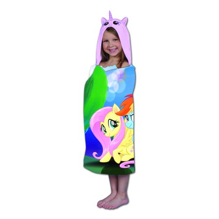 My Little Pony Kids Hooded Bath Towel Wrap, Magical Fun, 1 - Childrens Swimming Towels