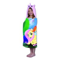 My Little Pony Kids Hooded Bath Towel Wrap, Magical Fun, 1 Each