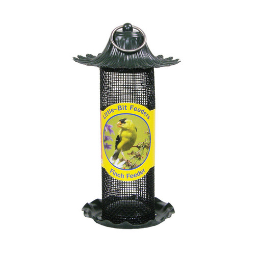 Stokes Select Little-Bit Feeders Finch Birdfeeder with Metal Roof, Yellow, .6 lb Seed... by Classic Brands