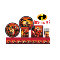 Incredibles 2 Birthday Party Supplies Pack for 16 Guests