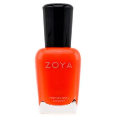Zoya Natural Nail Polish - Orange & Coral - Color : Paz - ZP477 (Orange And White Halloween Nails)
