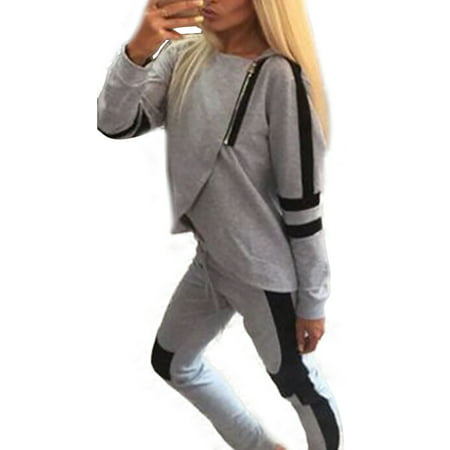 Women's Zipper Sweatshirt Pants Sets 2Pcs Gym Jogging Tracksuit (Snowboarding Set Women)