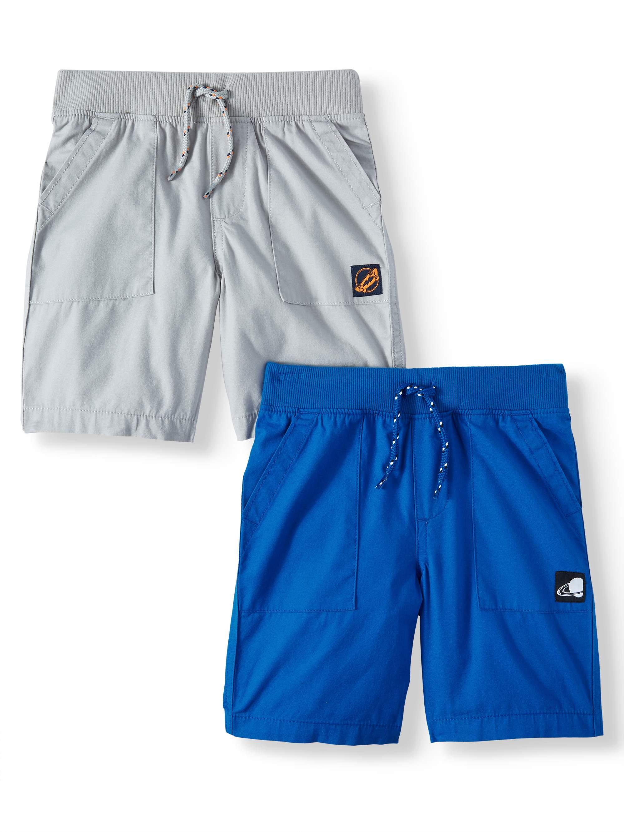 Essential Pull-On Utility Shorts, 2-Piece Multi-Pack Set (Little Boys & Big Boys)