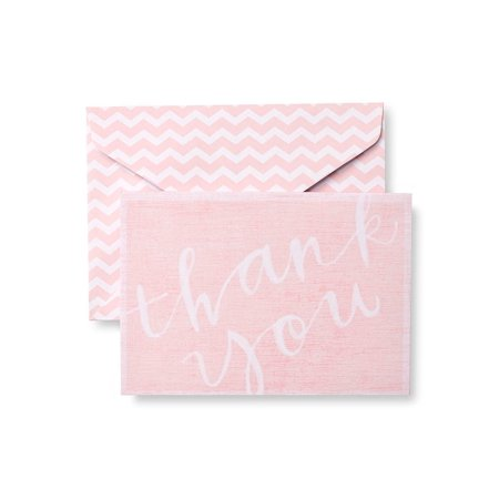10 Count Cards (Gartner Studios Painterly Pink Chevron Thank You Cards, 10)