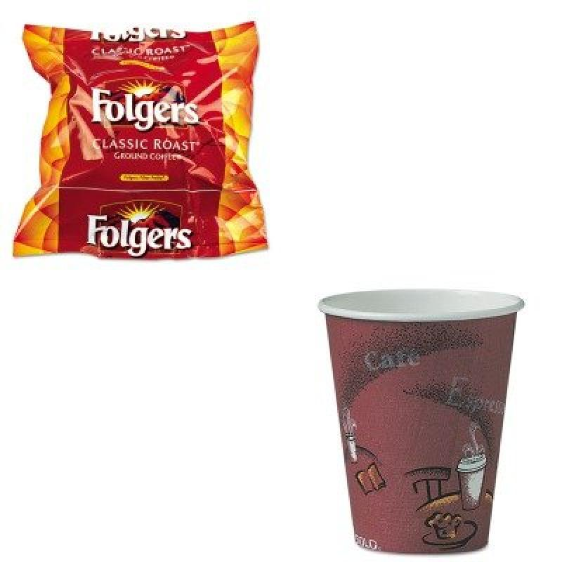 KITFOL06114SLOOF8BI0041 - Value Kit - Solo Bistro Design Hot Drink Cups (SLOOF8BI0041) and Folgers Regular Coffee Filter Pack, .9 Ounce (FOL06114)