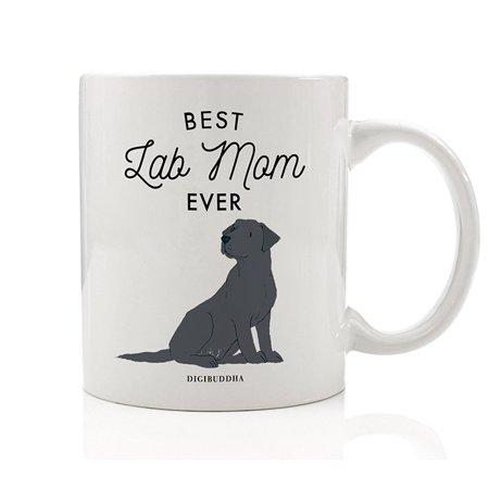 Best Lab Mom Ever Coffee Mug Gift Idea Mother Mommy Loves Family Pet Labrador Retriever Black Gray Adopted Shelter Rescue Dog 11oz Ceramic Tea Cup Christmas Mother